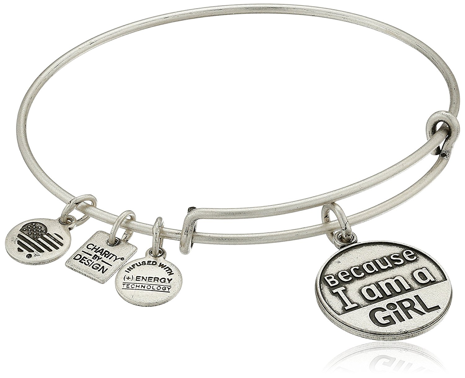 Alex and Ani Charity by Design 'Because I Am A Girl' Rafaelian Finish Expandable Bangle Bracelet