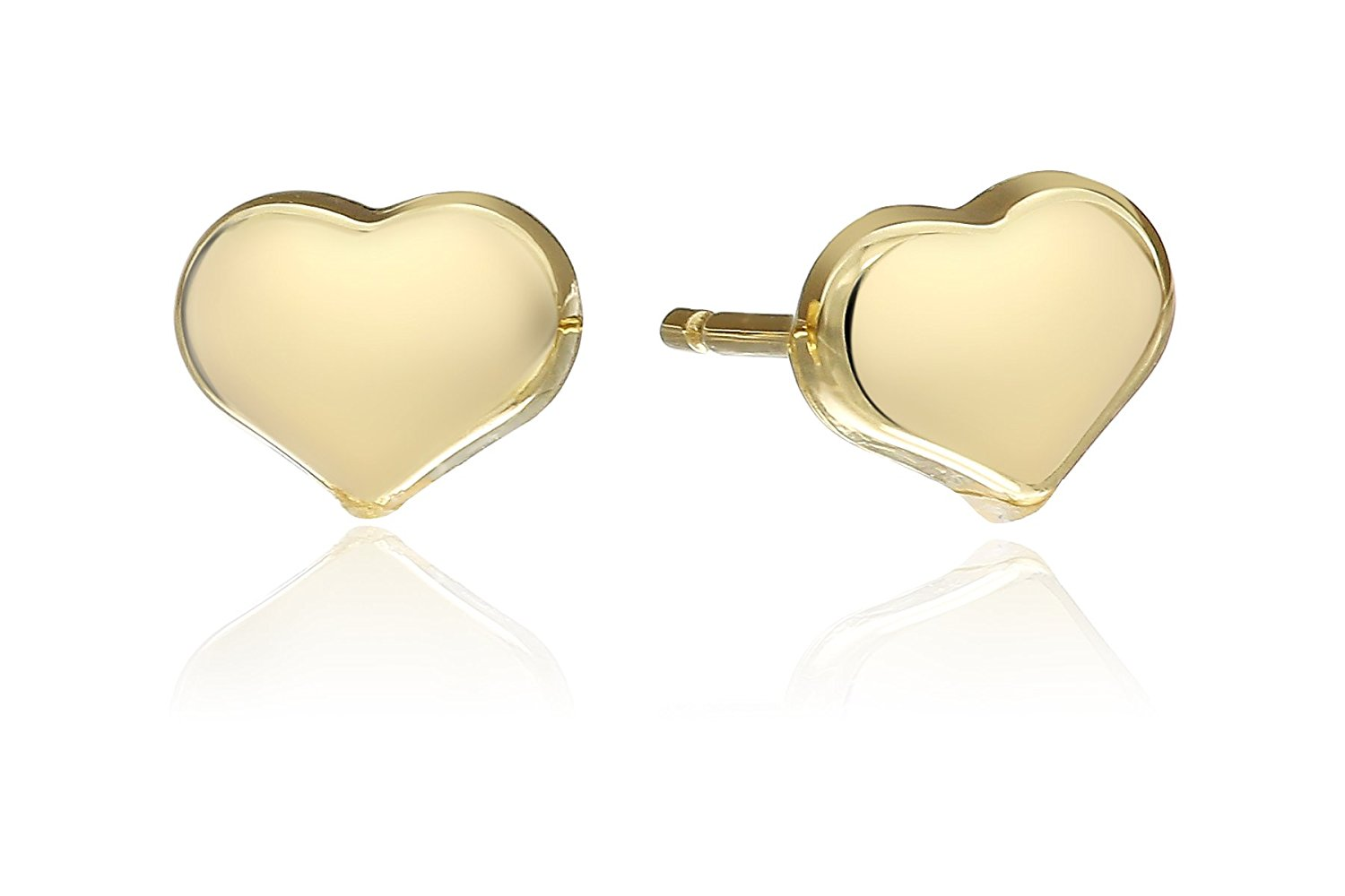 Roberto Coin Womens Solid Heart Stud Earrings - Tiny Treasures