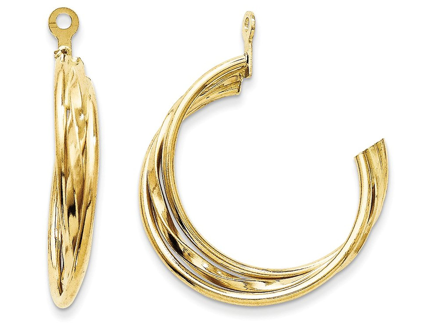 14 kt Yellow Gold Polished Hoop Earring Jackets