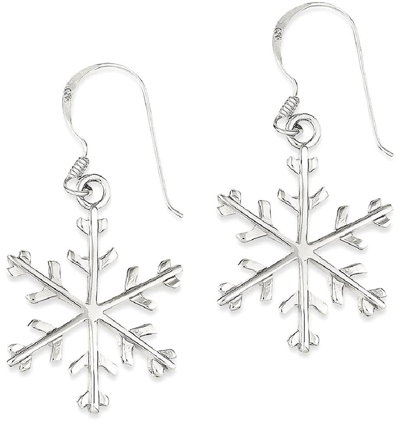 ICE CARATS 925 Sterling Silver Snowflake Drop Dangle Chandelier Earrings Holiday