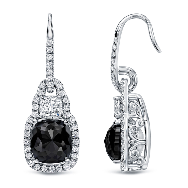 Auriya 18k White Gold 6 1/6ct TDW Cushion-cut Diamond Earrings