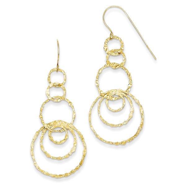 14 Karat Dangle Circles Earrings