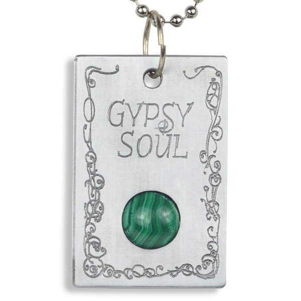 Handmade - Healing Stones for You Malachite 'Gypsy Soul' Pendant (USA)