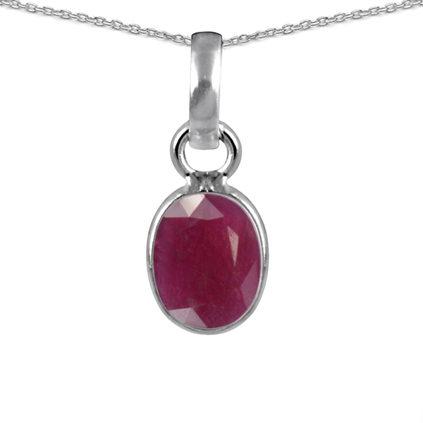 Orchid Jewelry 925 Sterling Silver 2.25ct. TGW Genuine Ruby Necklace