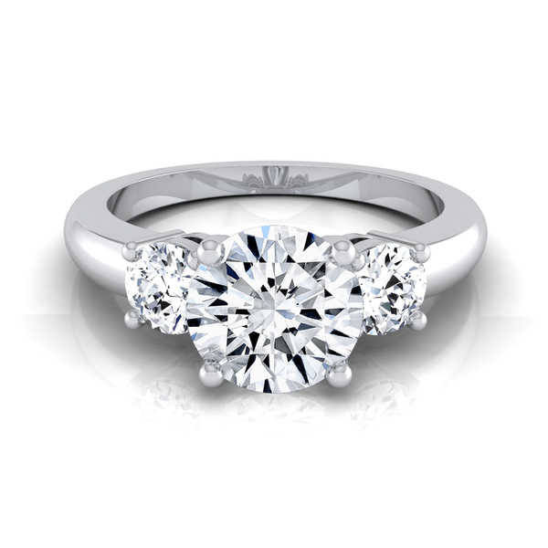 14k White Gold 1 1/4ct TDW Diamond IGI-certified 3-Stone Engagement Ring