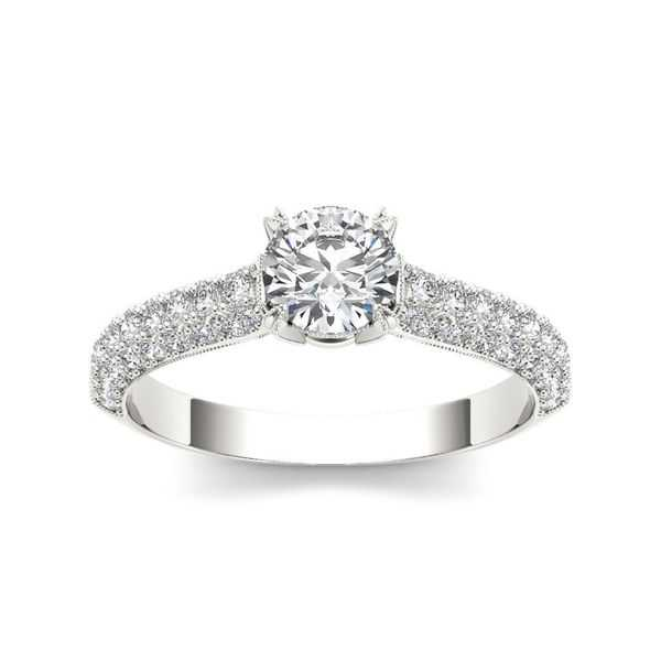 De Couer 14k White Gold 1 1/4ct TDW Diamond Hubristic Engagement Ring - White H-I