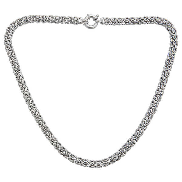 Decadence Sterling Silver Italian Byzantine Necklace