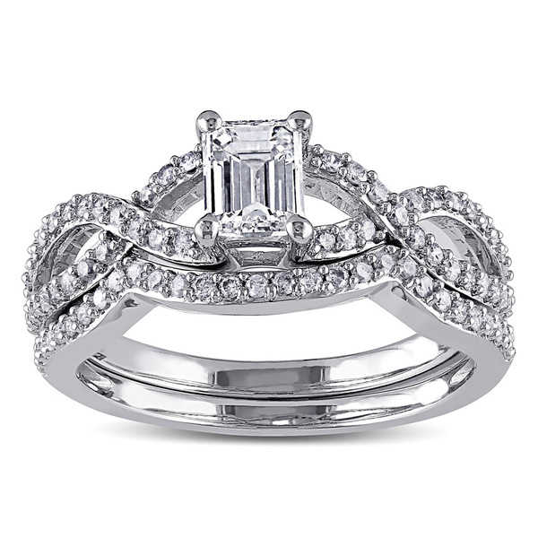 Miadora Signature Collection 14k White Gold 1ct TDW Diamond Ring Set