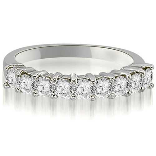 1.30 ct.tw 14K White Gold Round Diamond 9-Stone Prong Wedding Band