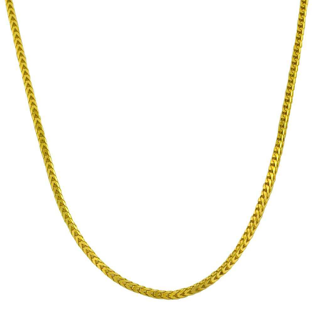 Fremada 14k Yellow Gold 18-inch Square Franco Necklace (1.2 mm)