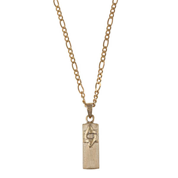 Yellow Gold Mezuzah Necklace