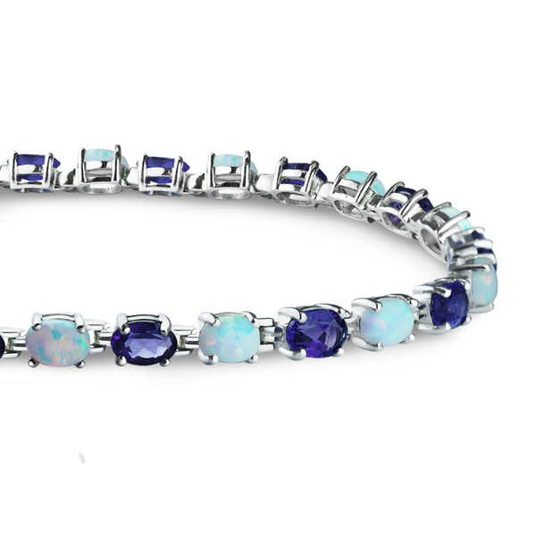 Belinda Jewelz Created Opal and Amethyst Tennis Bracelet