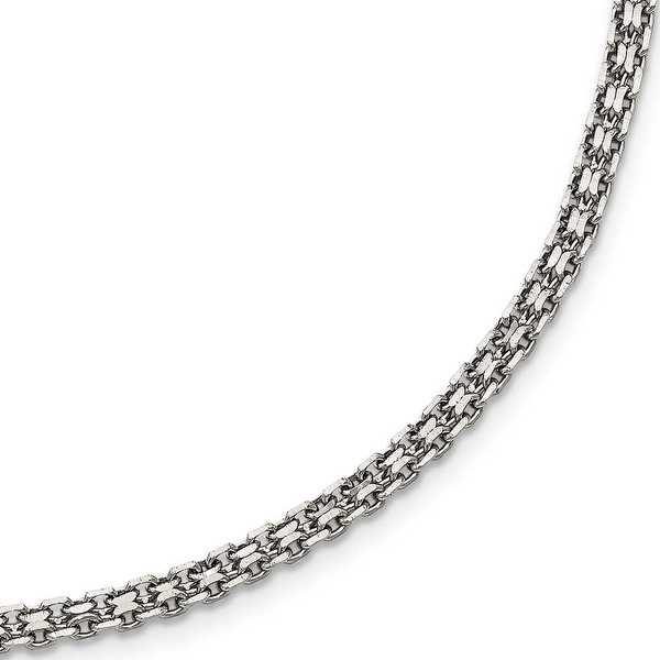 Stainless Steel Polished 3 mm Fancy Double Link Chain