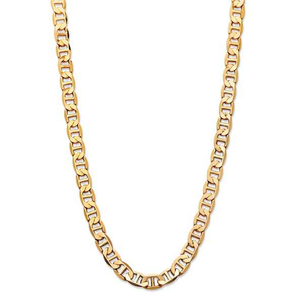 Men's Mariner-Link 7 mm Classic Chain Necklace Gold Ion-Plated 22''