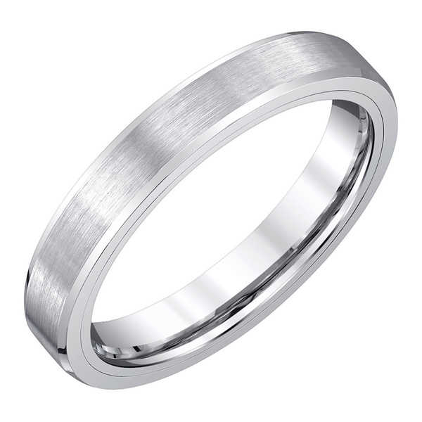 Men's White Tungsten Band by Ever One