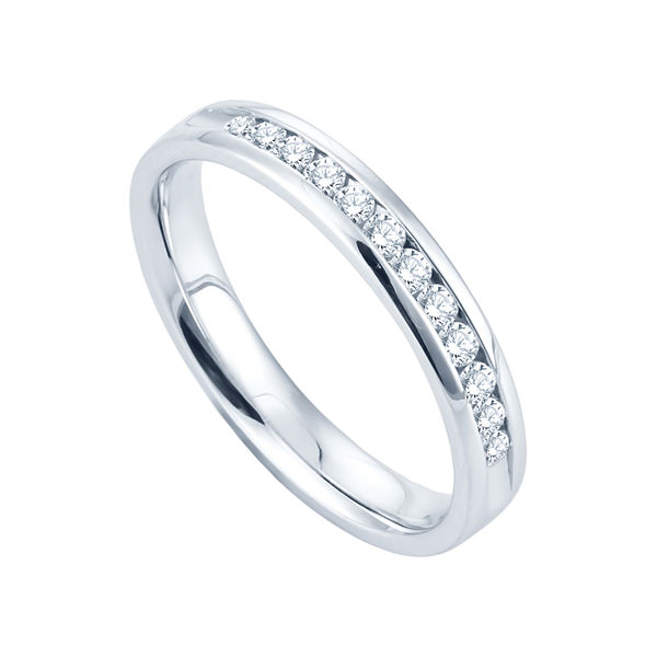 1/4 CT. T.W. Channel-Set Diamond Band