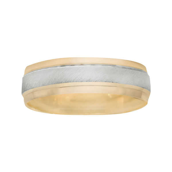 MenΓÇÖs 6mm Two-Tone Gold Wedding Band