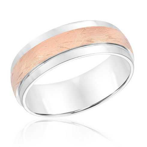 ArtCarved White Gold Comfort Fit Domed Band 7.5mm